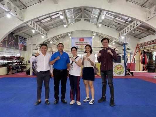 Ban đại diện Osotspa Vta ghé thăm văn phòng Muay Tp.Hồ Chí Minh
